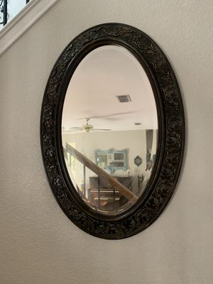 Oval wall mirror for Sale in Denton, TX