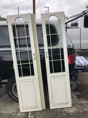 Antique doors glass cutouts- no glass for Sale in Lemon Grove, CA