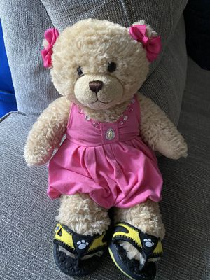 Build a bear girl pink dress & shoes for Sale in Lake Forest, CA