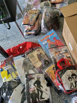 Full Box Of Random Assortment Of Children's Costumes Boy Girl Small, Medium, And Large for Sale in Los Alamitos,  CA