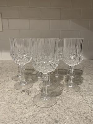 Small crystal/glass wine glasses for Sale in Encinitas, CA
