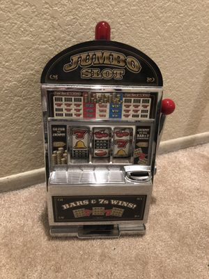 Jumbo Slot Machine savings bank Las Vegas style casino with winning lights and sound for Sale for sale  Buena Park, CA