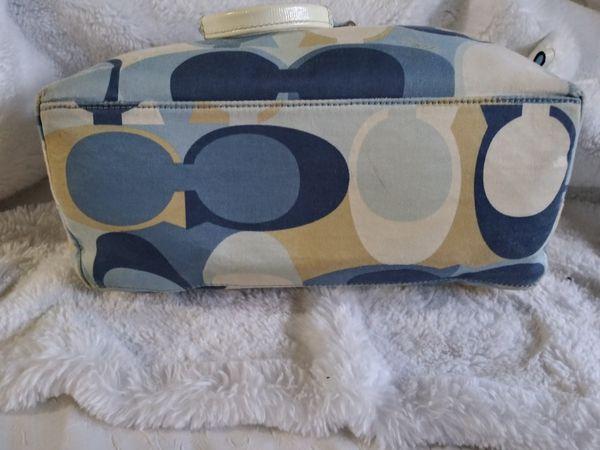 Coach Multicolor Scarf Print Tote Bag
