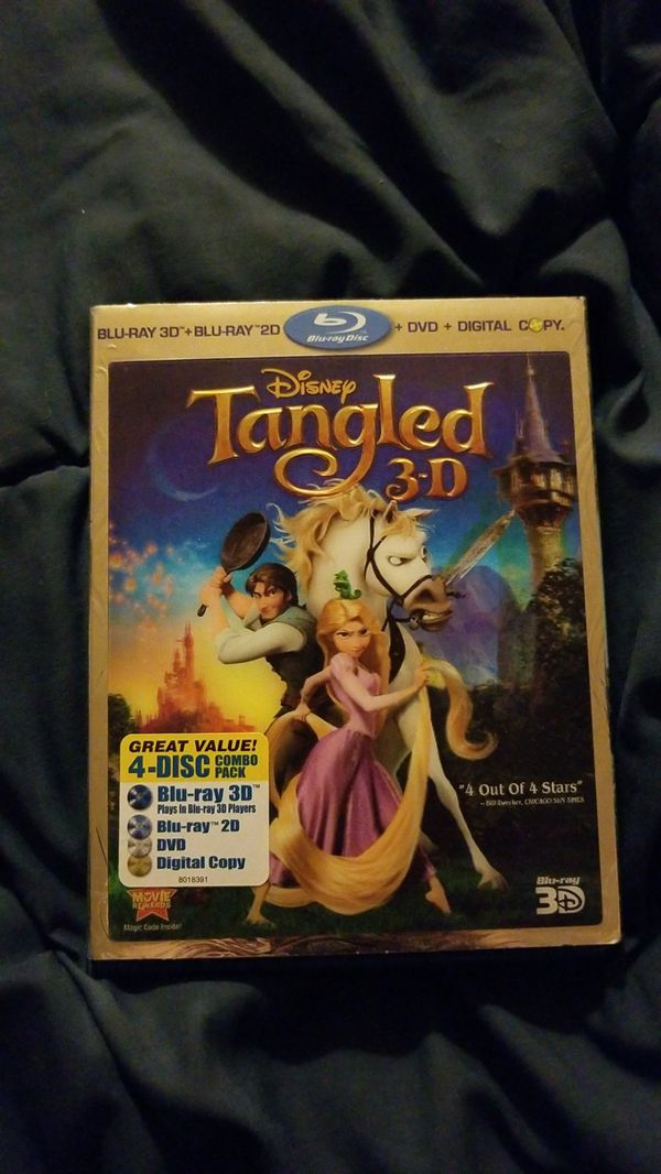 Disney Tangled 3D- 4 disk combo pack