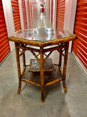 English Antique Bamboo Side Table for Sale in Houston, TX