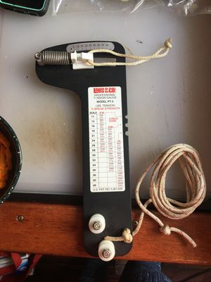 ailboat Rigging Tension Gauge from Loos & Co., PT-2 Professional Hands-Free Force Gauge for Sale in San Diego, CA