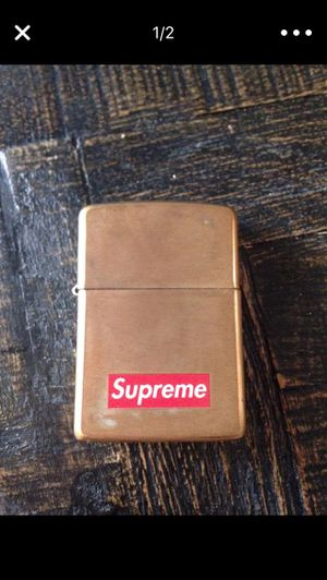 2011 supreme gold zippo for Sale in San Diego, CA