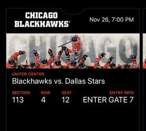 Blackhawks vs Stars for Sale in Plainfield, IL