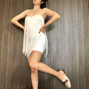 Strapless White Fringe Tassel Dress for Sale in Kirkland, WA