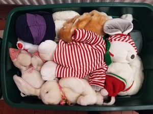Large Tub of Plushies, Stuffed Animals, Festive Holiday Toys for Sale in San Francisco, CA