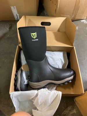 TideWe Rubber Neoprene Boots Men and Women, size 14Waterproof Durable 6mm Neoprene Boot, Rain Boot Muck Hunting Boot Arctic Outdoor Boot(Ger‖) for Sale in Los Angeles, CA