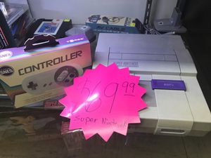 Super Nintendo system with cables and controller for Sale in Tampa, FL