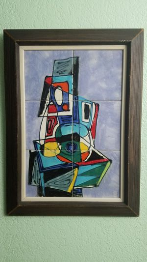 Two mid century framed abstract tile art for Sale in Las Vegas, NV