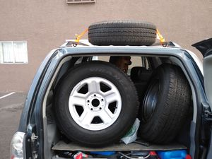 225/75/16 Goodyear Wrangler tires and rims for Sale in Las Vegas, NV