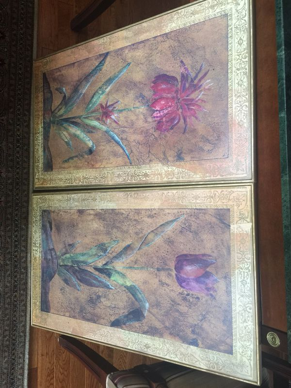 Elegant pictures with frame $25 each