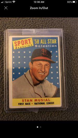 Stan Musial 1958 Topps Card #476 for Sale in Roanoke, TX