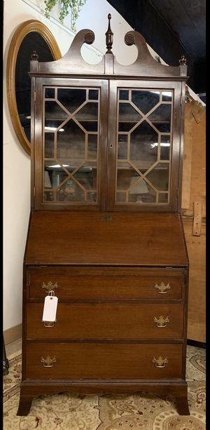 Antique Cherry 3 Drawer Secretary Hutch / Desk w Storage display for Sale in Lehighton, PA