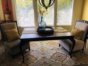 Wood Table - 2 Formal Chairs. for Sale in Wenatchee, WA