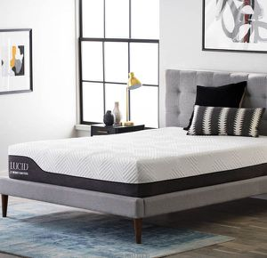 LUCID 12 Inch King Hybrid Mattress NEW! for Sale in Fresno, CA