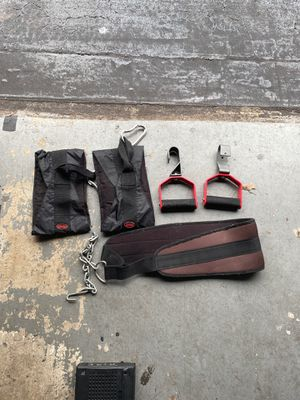 Pull up hooks, weight belt, Ab sling for Sale in Tamarac, FL