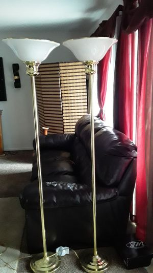 65 inches tall gold & white floor lamps for Sale in Kansas City, MO