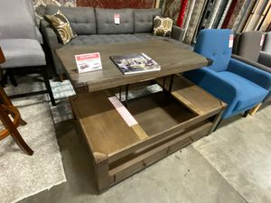 Lift Up Coffee Table, Greyish Brown for Sale in Santa Fe Springs, CA