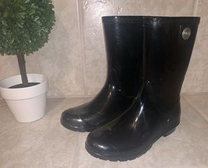 Authentic Black UGG Lined Rain Boots Women's Sz 6 Kids Sz 4 for Sale in Modesto, CA