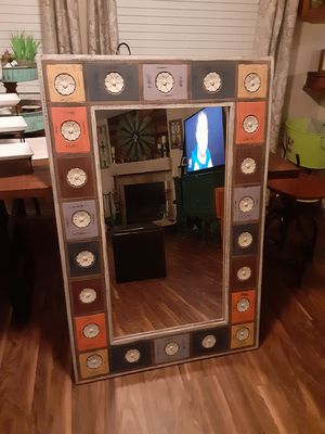 "Colorful Boho wall mirror. Excellent condition. 32""wide x 48 long. for Sale in BETHEL, WA"