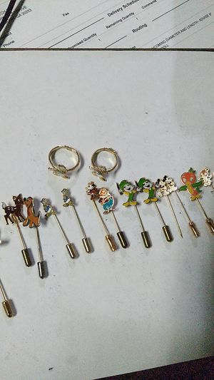 Vintage Disney stick pins and two vintage Donald duck rings for Sale in Travelers Rest, SC