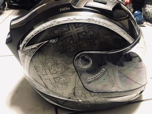 Use , helmet for riding a cheap motorbike in good condition without any bumps and has signals behind for Sale in Elizabeth, NJ
