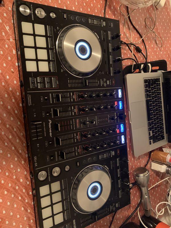 Pionner control dj mas 2 jbl speakers y luces