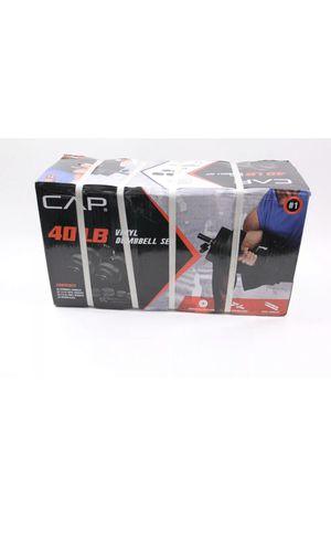40 lb Adjustable Dumbbell Weight Set - CAP Vinyl Set for Sale in Edgewater, NJ