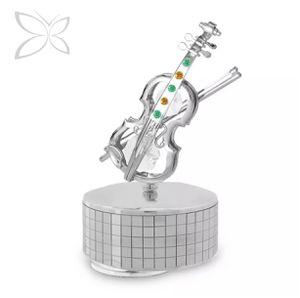 Metal Crystal Violin Music Box Swarovski Crystal for Sale in Hanover, MD