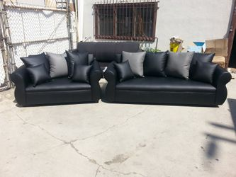 NEW BLACK LEATHER COMBO SECTIONAL COUCHES for Sale in Imperial Beach,  CA