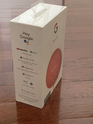Google - Nest Mini (2nd Generation) with Google Assistant - Coral for Sale in Everett, WA