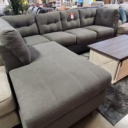 NEW, HOT SALE CHARCOAL COLOR L SHAPPED SECTIONAL, SKU#TC45200. for Sale in Midway City,  CA