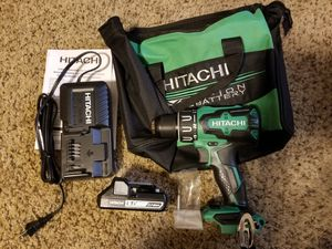 Hitachi 1/2-in 18-Volt Variable Speed Brushless Cordless Hammer Drill Starter Kit for Sale in Modesto, CA