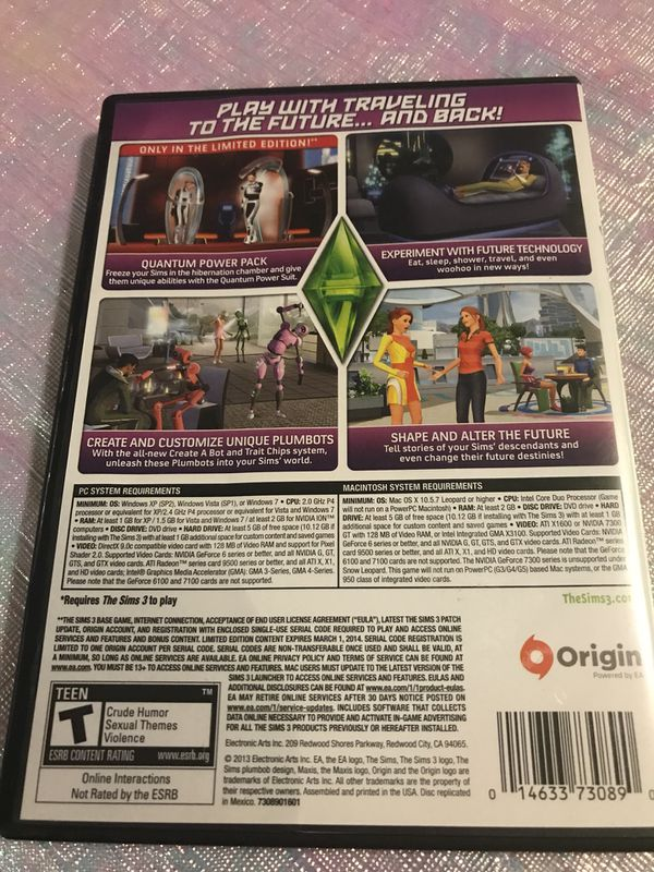 The Sims 3 INTO THE FUTURE expansion pack for Sale in Kirkland, WA - OfferUp