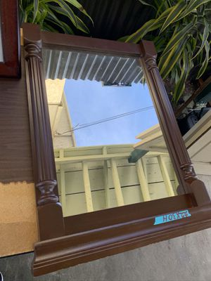 Wood wall mirror for Sale in Los Angeles, CA