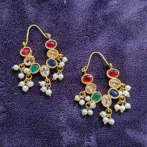 Hoop Style Real Stone Earrings for Sale in Milford Mill, MD