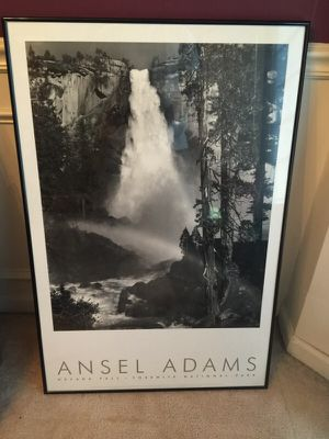 Ansel Adams 16x24 black and white waterfall picture for Sale in Durham, NC