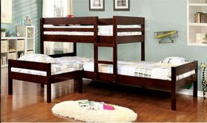 CM BK 626 TRIPLE TWIN BUNK BED MATTRESS NOT INCLUDED ORDER TODAY ☎️ 1714586*2564 for Sale in Buena Park, CA