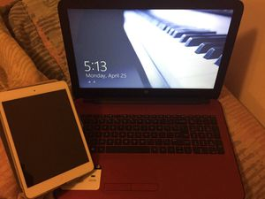 HP touch screen laptop with iPad mini for Sale in Aventura, FL