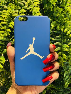 Brand new cool iphone 6+ PLUS case cover slim fit hard sleeve case light weight Jordan jumpman matte blue mens guys hypebeast hypebae womens girls hy for Sale in San Bernardino, CA
