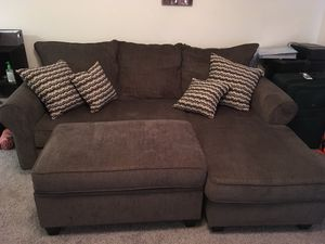 Sectional Couch and Storage Ottoman for Sale in GRANT VLKRIA, FL
