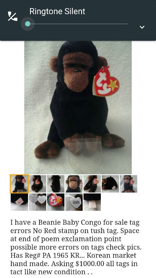 9c8a3647603 Beanie baby Congo Rare!! for Sale in Birmingham