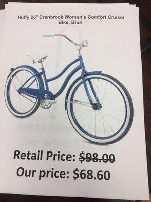 "Huffy 26"" cranbrook women's comfort cruiser bike for Sale in San Lorenzo, CA"