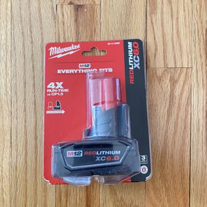 Milwaukee M12 XC 6.0 Ah Battery for Sale in Severna Park, MD