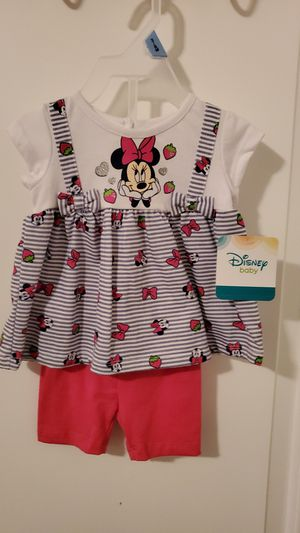 $6- Brand New Disney Baby Girl Outfit - size 3/6 months for Sale in Moreno Valley, CA