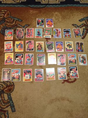 Vintage 1985 kids or collectors garbage pail kids sticker cards for Sale in Coral Springs, FL
